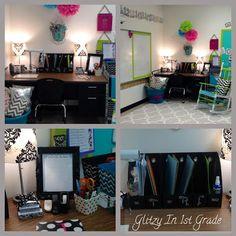 LOVE her classroom! Glitzy In 1st Grade: Classroom Setup