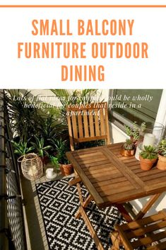 Best Small Balcony Furniture Inspiration – Decorating Ideas - Home Decor Ideas and Tips Small Balcony Furniture, Outdoor Furniture Sets, Outdoor Dining, Outdoor Decor, Fire Escape, Furniture Inspiration, Home Decor, Balcony, Al Fresco Dinner
