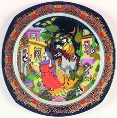 """O LIttle Town of Bethlehem"" Bjørn Wiinblad, 1989 Rosenthal Christmas Carol Plate (1983-1994)"