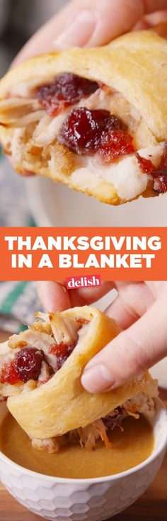 In A Blanket Thanksgiving in a blanket is the most delicious thing you can do with your leftovers. Get the recipe on .Thanksgiving in a blanket is the most delicious thing you can do with your leftovers. Get the recipe on . Leftovers Recipes, Turkey Recipes, Fall Recipes, Holiday Recipes, Holiday Foods, Christmas Desserts, Christmas Ideas, Sloppy Joe, Thanksgiving Treats