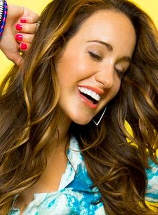 Britt Nicole... LOVE her highlights, but I want to see how they look straight! She curls her hair all the time!