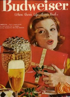 vintage beer xmas adv. images | Details about BUDWEISER BEER - COLORFUL CHRISTMAS ART Vintage Magazine ...