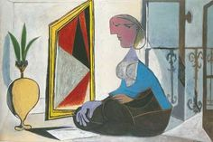 æsthetic mood: Pablo Picasso Femme au miroir (Woman at the mirror. Cubist, Pablo Picasso Paintings, Matisse Art, Art Reproductions, Painting, Painting Reproductions, Art, Abstract, Prints
