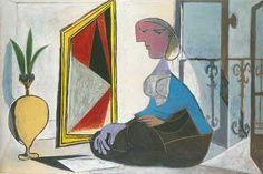 æsthetic mood: Pablo Picasso Femme au miroir (Woman at the mirror. Matisse Kunst, Matisse Art, Henri Matisse, Pablo Picasso, Picasso Art, Lawrence Lee, Cubist Movement, Picasso Paintings, Picasso Prints