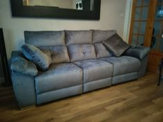 Meridian sofa with 3 electric reclainers and armrest storage on each side. Available in other sizes and configurations. Delivered to our client in Essex. Modern Sofa, Modern Bedroom, Contemporary Furniture, Leather Bed, Sofa Design, Recliner, Sofas, Electric, Couch