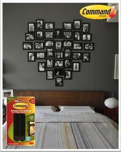 Las tiras para cuadros Command te ayudan a decorar de forma diferente tu cuarto, haz un detalle especial en esta semana del amor y la amistad.