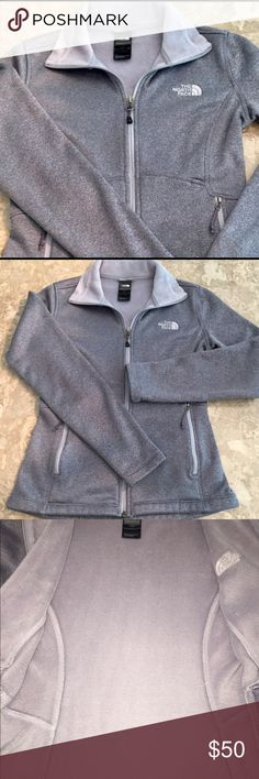 🎉The North Face Agave zip up gray jacket XS Like new- authentic. I bought this jacket for my teenage daughter but it doesn't fit. The size is XS in women's. Color is grey... I posted an up close photo to show a more accurate representation of color. The North Face Jackets & Coats
