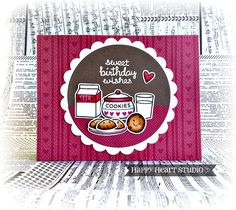 I love this cute card by Nancy! Milk and Cookies is perfect for adorable birthday cards, too! We...