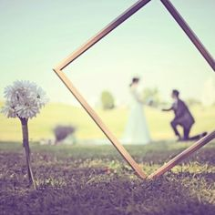 weddingphoto in park  my selfwedding