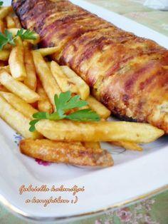 Gabriella kalandjai a konyhában :): Csirkemell őzgerincformában sütve - családom nagy kedvence :)