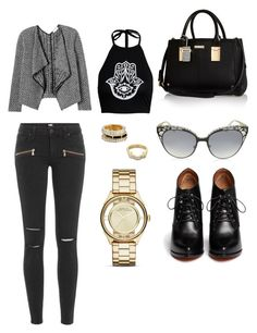 """Untitled #160"" by karla-mouque on Polyvore featuring Paige Denim, Boohoo, Rebecca Taylor, Givenchy, River Island, Marc by Marc Jacobs and Jimmy Choo"
