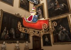 Mr Toad prepares to greet visitors to Chatsworth this Christmas Photo: Ruth Downing