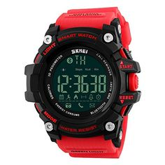 Mens Smart Digital Watch 5ATM Waterproof Sport WristWatch Call SMS Notification Pedometer LED smartwatch. BLUETOOTH NOTIFICATION: This savvy apply to Android and IOS iPhone System. Convenient adjusts the approaching calls , SMS , application notices push ( like Facebook , Twitter , and WhatsApp ) . With moment, best offer