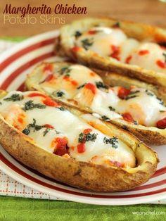23. #peaux de pommes de #terre poulet #Margherita - 29 dîners de #poulet délicieux à #agiter jusqu'à la Table de ce #soir... → Food