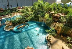 Tropical Islands, Berlin -- waterpark in an old airplane hangar