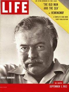 Photo of Cover Life Magazine Ernest Hemingway 1952 Ernest Hemingway, Hemingway Cuba, Life Magazine, History Magazine, Life Cover, September 1, Journal, Old Men, In This World