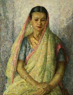 """Title: Indian Woman by Mischa Askenazy (1888-1961) Size: 36"""" x 28"""" Medium: oil on canvas Jeff Olsen Fine Art,  American art specializing in California Artists"""