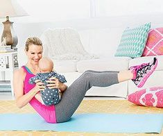 Kristin McGee, a personal trainer in New York City, created this ab workout you can do with Baby!
