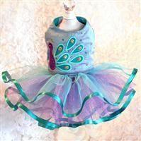 Peacock Azure Silk Dress