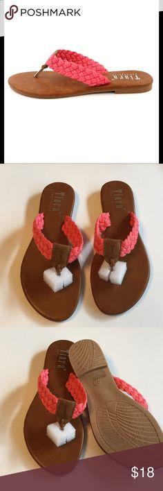 Tiara Macrame Sandals Tiara fuchsia macrame sandals, new in box. Price firm unless bundled Tiara Shoes Sandals