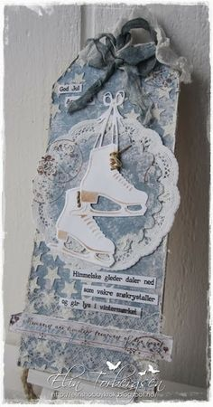 Live & Love Crafts' Inspiration and Challenge Blog: Ice Skate Tag.   Uses Marianne Design Ice Skates die.