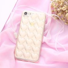 Korean Cute Candy Color 3D Love Heart Case for iphone 7 6 6s Plus 5 s SE Cover Sweet Lady Capa Soft TPU Phone Cases With Lanyard