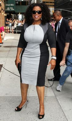 "Oprah Winfrey's infamous  ""Penis Dress."" She wore it to look thinner, but she ended up looking like a dick, as usual.  (I can't stop laughing.............)"