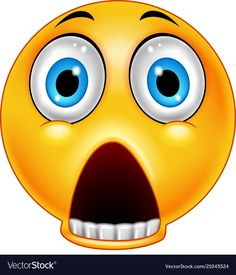 Scared emoticon with a dropped jaw Royalty Free Vector Image Funny Faces Images, Funny Emoji Faces, Emoticon Faces, Emoji Images, Emoji Pictures, All Emoji, Kiss Emoji, Emoji Love, Smiley Emoji