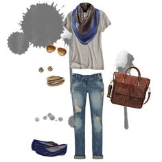 Jeans. T-shirt. Scarf. Sort of my go-to outfit :)