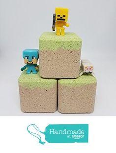 Minecraft set of three (3) bath bombs by Crazy Mama's Soap and More from Crazy Mama's Soaps and more https://www.amazon.com/dp/B06XHF3L44/ref=hnd_sw_r_pi_awdo_cmd3ybC1695WC #handmadeatamazon