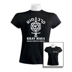 Women's Black Krav Maga IDF Cotton T-Shirt