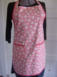 Pink Patchwork Print Bib Apron by donnaleeretro on Etsy, $32.00