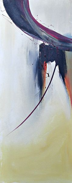 "Free as a Bird - 40X16"" Jane Robinson Abstract Moxy"
