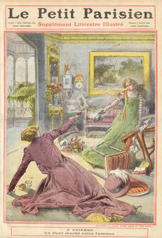 Le Petit Parisien from October 3, 1909 reports on a fatal shooting between women in Chicago.