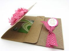 PinkBlingCrafter: Spritzed Creped Paper for a GIrly Goodie bag and gift Holder