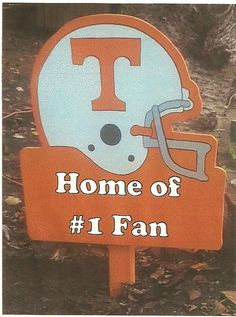 Sign is roughly 2ft. Any team, emblem, number or personalization can be done! Local Schools or Youth Sports, College, or NFL!  Our products are made out of high quality wood. They are painted with exterior paint and then sealed with non-yellowing latex clear polyacrylic. Each piece is hand drawn, hand cut, hand sanded and hand painted.