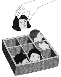 'The diagnosis of mental disorders'. Marion Fayolle illustration for the New YorkTimes