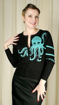 Too Fast Brand Knit Octopus Cardigan ...just out of my price range. =(