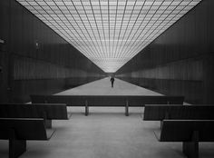 interior of the Kluczynski Federal Building, Chicago, IL by Ludwig Mies van der Rohe (1974)