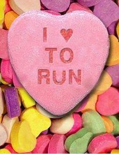 I love to run candy