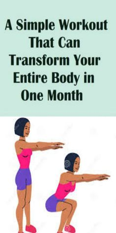 A Simple Workout That Can Transform Your Entire Body in One Month - Site Title Healthy Life, Healthy Living, Healthy Food, Healthy Meals, Hiit, Fitness Goals, Health Fitness, Women's Fitness, Cardiac Diet