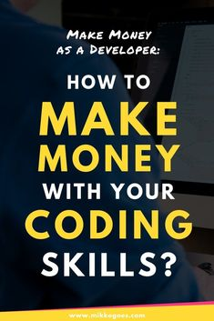 Make Money Coding: 4 Smart Ideas (That Really Work in Want to learn coding to start a career and make money online? This guide will help you find the right type of web developer job, either fron Ways To Earn Money, Make Money Online, How To Make Money, Learn Programming, Computer Programming, Python Programming, Programming Languages, Computer Coding, Computer Science