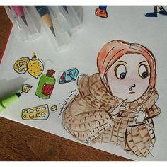 Schnief... Erkältung ist schon doof, da helfen nur Tabletten und Vitamin C. #sketchbook #illustration #watercolour #zeichnen #skizzenbuch #rauschsinnig #artoftheday #sketchbook #skizzenbuch #illustration #zeichnen #doodle #sketching #doodleoftheday #sketc