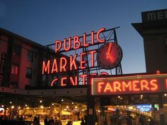 Pike Place Market, Seattle. Live in downtown Seattle: http://www.bluefernproperties.com/listings/areas/68325/