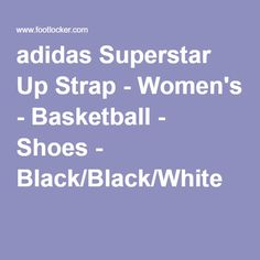 adidas Superstar Up Strap - Women's - Basketball - Shoes - Black/Black/White