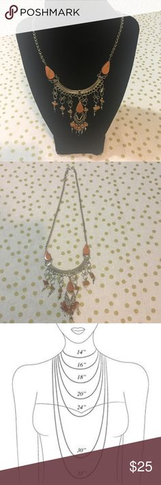 Beaded Necklace Hand crafted • 18.5 inches long • Made in Peru • Brand New • color is a soft pink Jewelry Necklaces