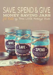 Simplifyyourlife: creating your own saving spending and giving jars,...