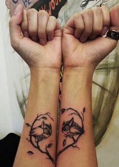 owl tattoo heart branch