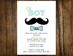 Oh Boy Little Man Mustache & bow tie baby shower or by SONNYAndCo, $17.50