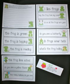 Frog Punctuation and Capitalization Packet